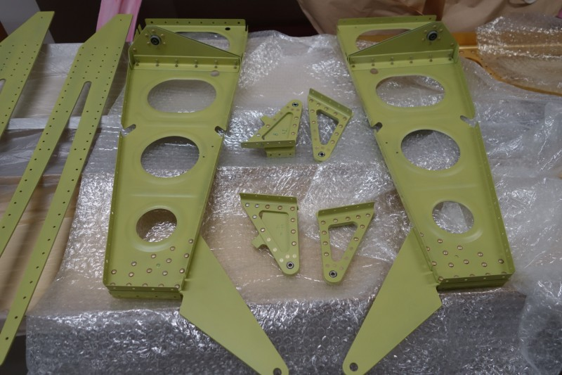A few wing sub-assemblies